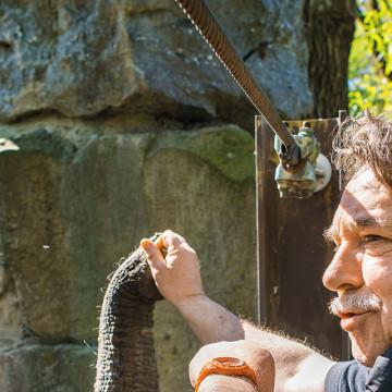 Detlef Niebler im Zoo Osnabrück