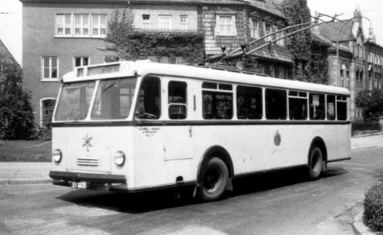 Oberleitungsbus 1952