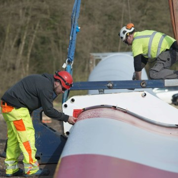 Bau Windpark Rieste