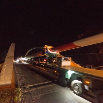 Flügeltransport zum Windpark Rieste