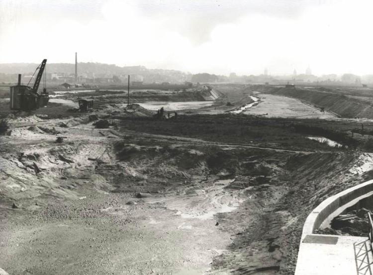 Bau des Hafenbeckens Hafen Osnabrück