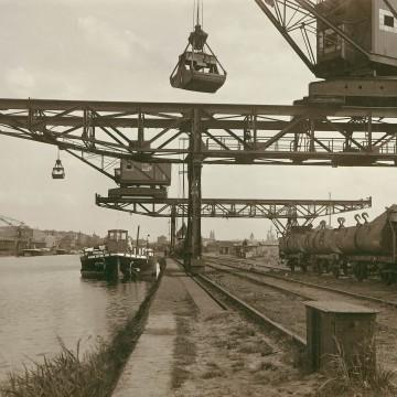 Erzverladekraene Hafen Osnabrück