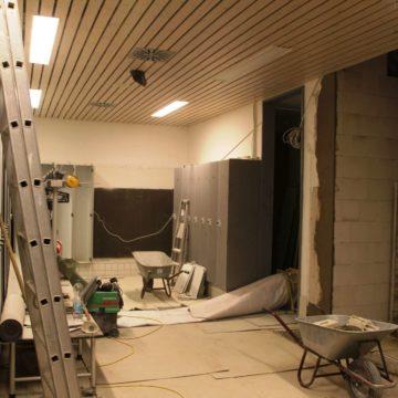 Umbauarbeiten Loma-Sauna