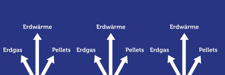 Heizungstyp Erdwärme Erdgas Pellets