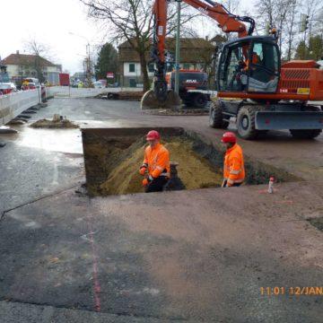 Baugrube Bramscher Straße