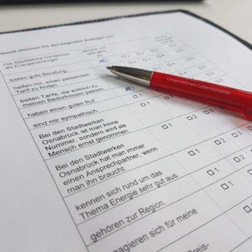Fragebogen Marktforschung