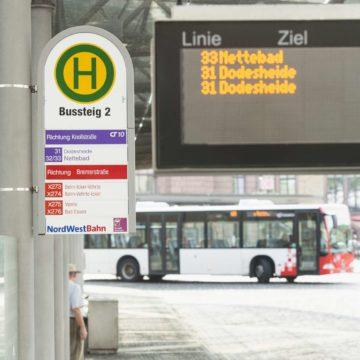 Bus am Hauptbahnhof