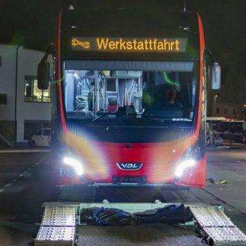 Anlieferung E-Bus