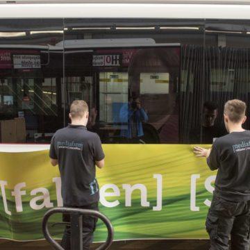 Beklebung E-Bus