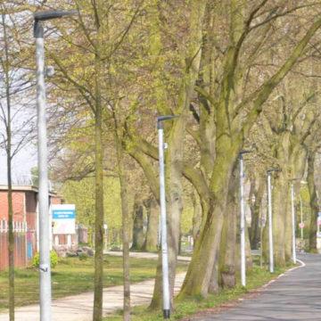 Straßenbeleuchtung Radschnellweg